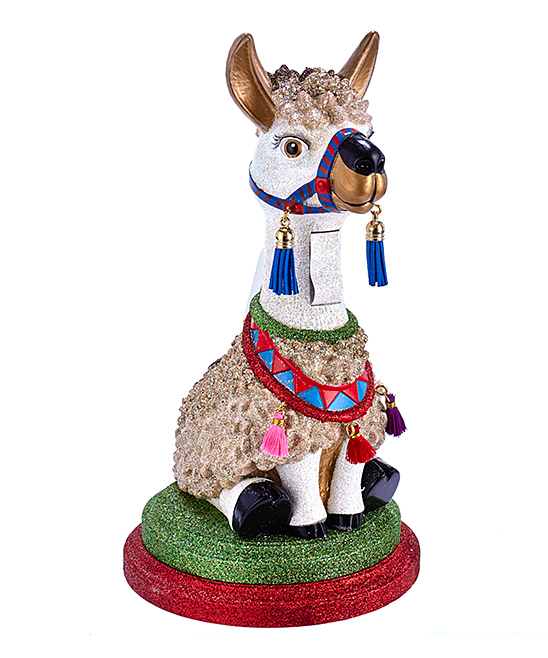 Kurt Adler  Collectibles and Figurines Multi-Color - 11.5-Inch HollywoodTM Llama Nutcracker