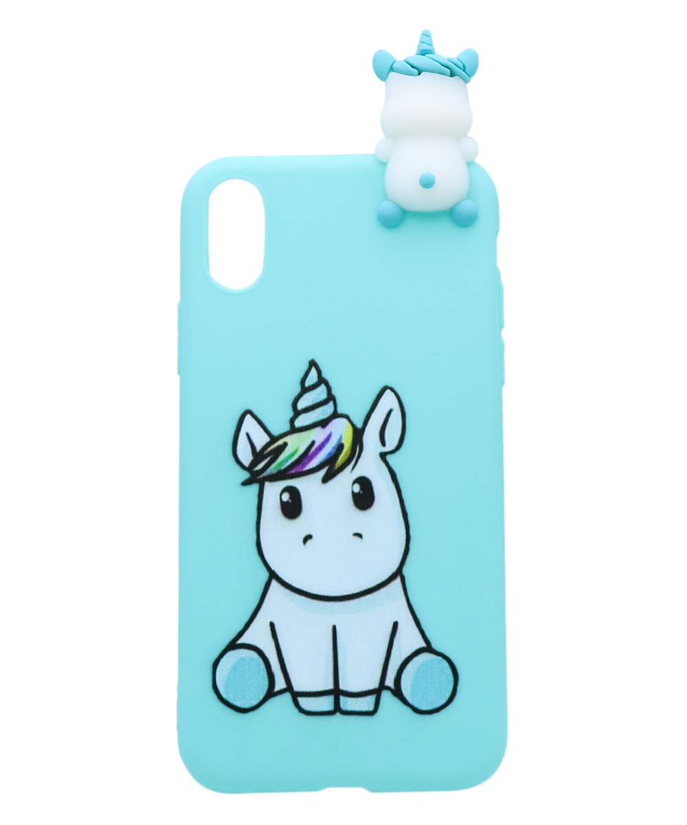Blue Baby Unicorn Case for iPhone