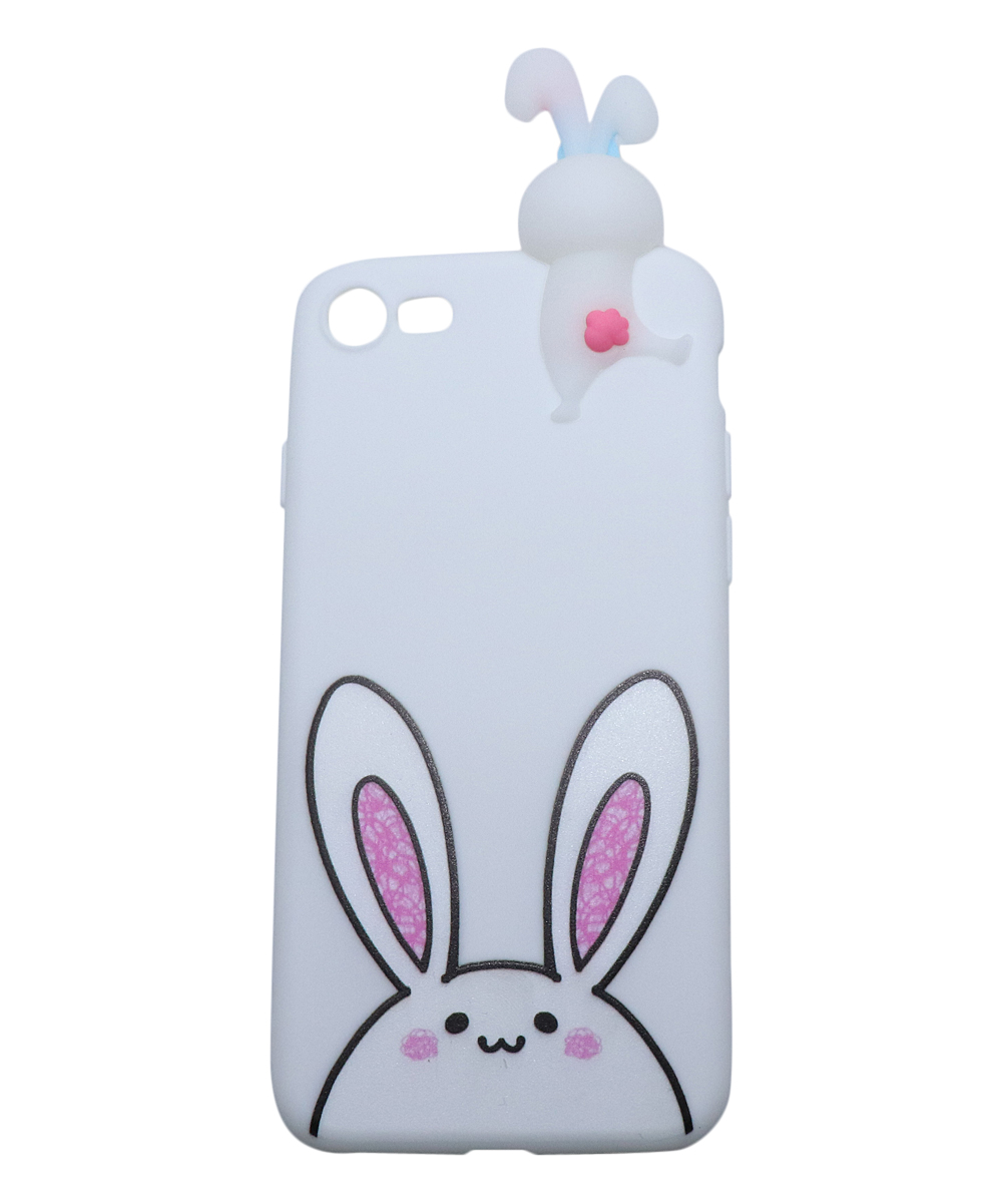 MuYin  Cellular Phone Cases white - White Bunny Case for iPhone
