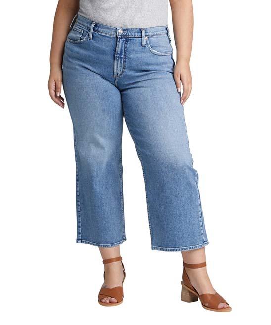 Indigo Go Wide Crop Jeans - Plus