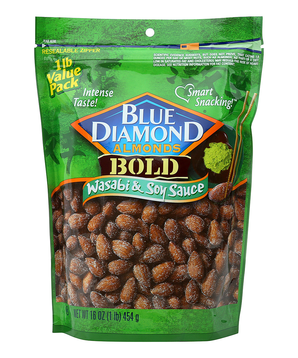 Blue Diamond Almonds  Nuts  - 16-Oz. Wasabi & Soy Sauce Almonds