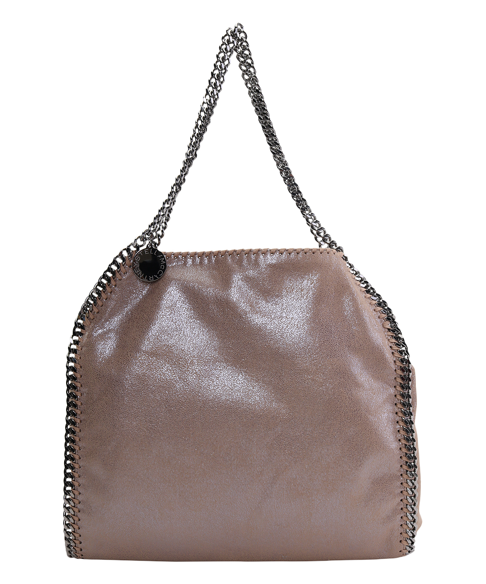 Light Brown Metallic Chain-Accent Falabella Tote