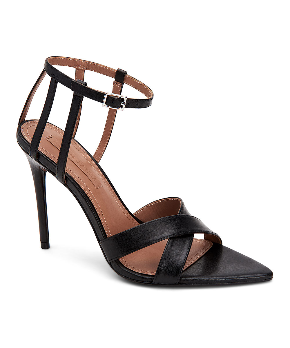 23fe01727127d BCBGMAXAZRIA Black Cage-Strap Daryl Leather Sandal - Women