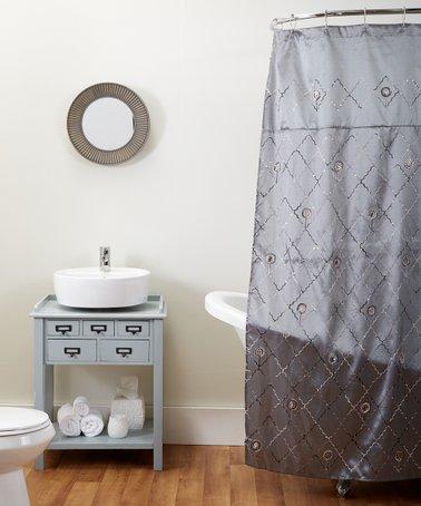 Gray Zara Shower Curtain