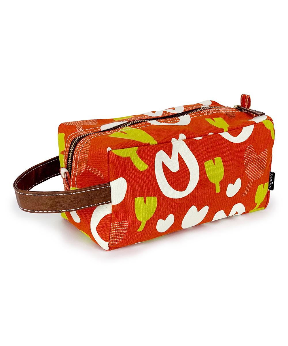 Maika  Makeup Bags  - Orange & Yellow Abstract Cosmetic Bag