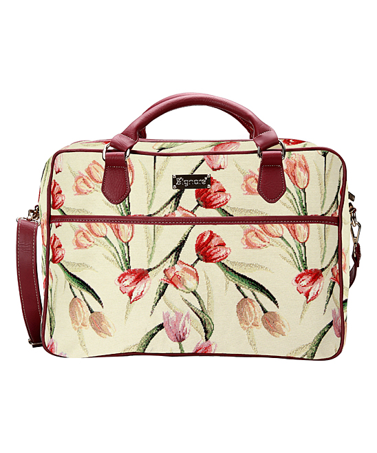Signare Women's Laptop Computer Cases Tulip - White Tulip Laptop Bag
