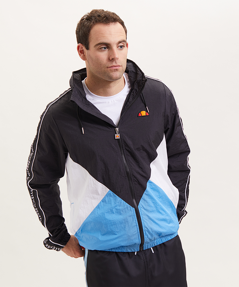 60f49f3f5d Ellesse Black & Blue Color Block Lapaccio Track Jacket - Men