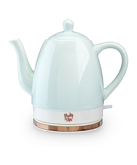 Pinky Up  Electric Kettles  - Mint Noelle Ceramic Electric Kettle Mint Noelle Ceramic Electric Kettle. Readily boil water for tea and more with this sweetly hued electric kettle designed with a separate base for easy cordless serving. Includes kettle and base10'' W x 9'' H x 6'' DHolds 1.5 LCeramic / polypropylene Hand washImported
