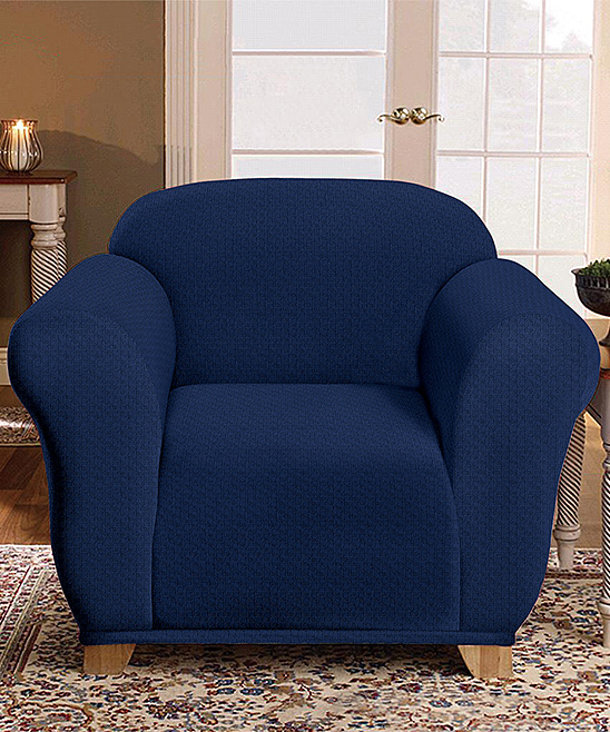 Kashi Home  Indoor Furniture Covers Blue - Blue Milan Chair Slipcover