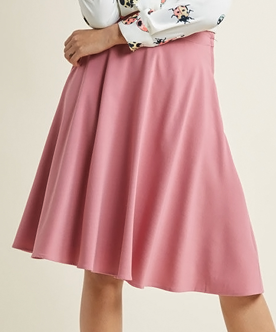 64e97d0b96eb14 ... Womens ROSE Carnation Rose Just This Sway A-Line Skirt - Alternate  Image 4 ...
