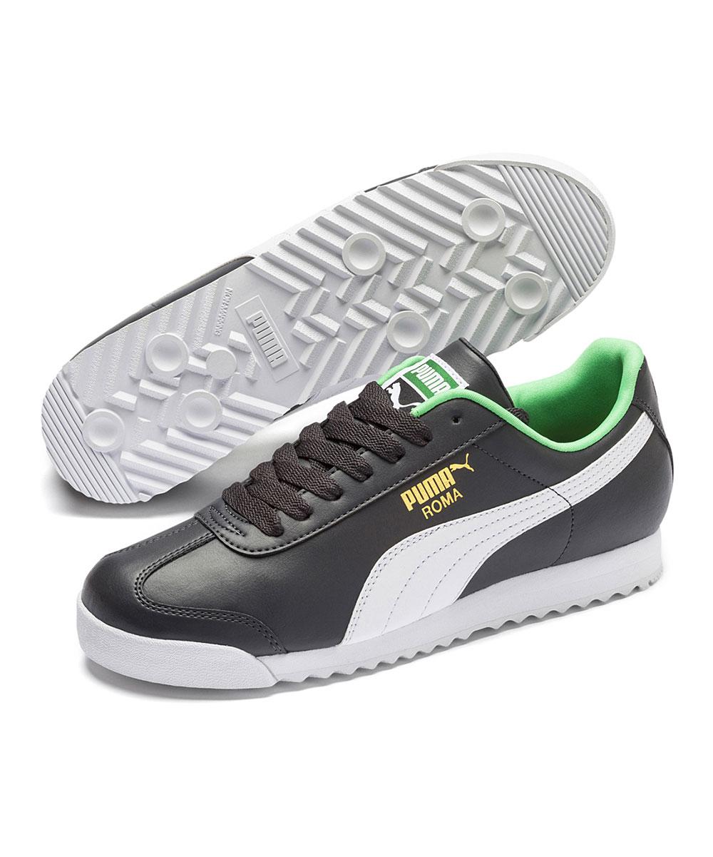 PUMA Men's Sneakers Asphalt-Puma - Asphalt & White Roma Basic+ Sneaker - Men
