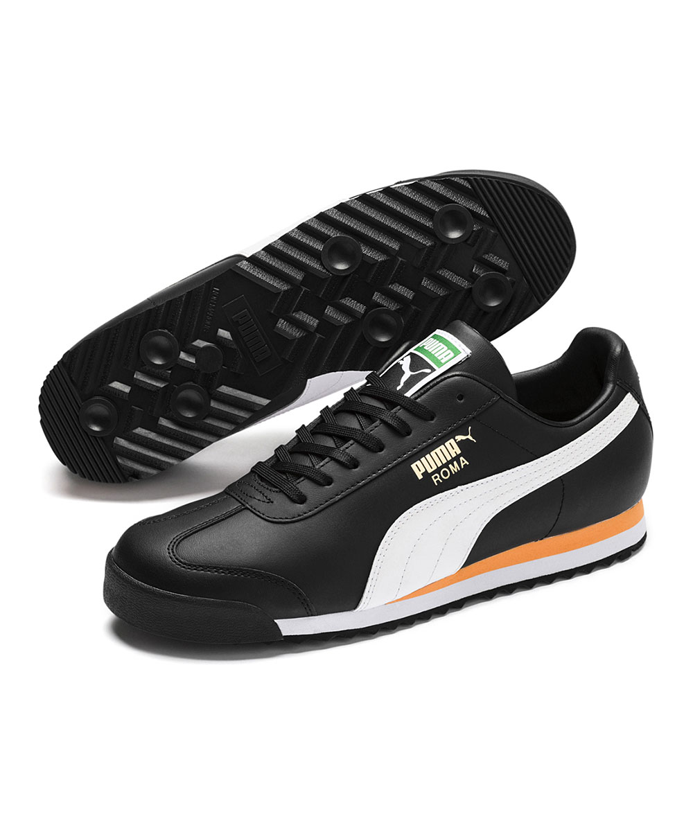 PUMA Men's Sneakers Puma - Black & White Roma Classic Sneaker - Men