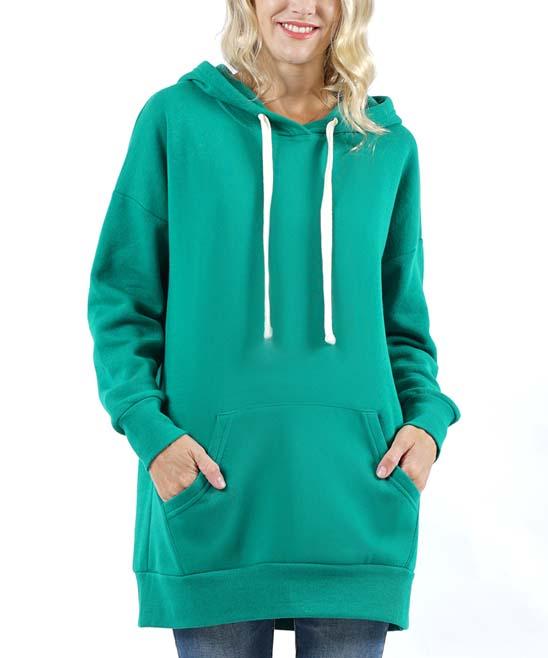 Lydiane Women's Sweatshirts and Hoodies FOREST - Forest Green Pocket Hoodie - Women & Plus