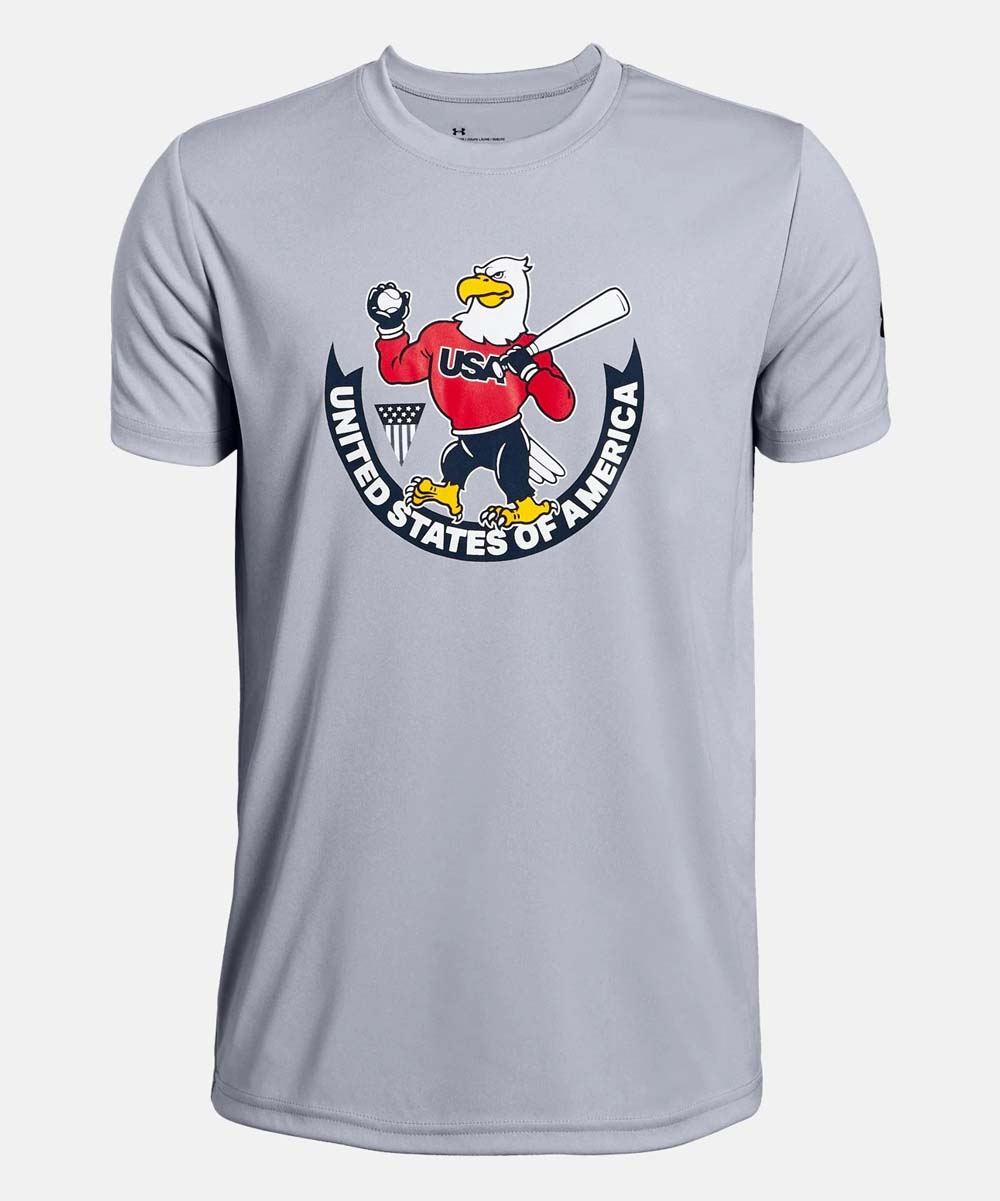 009998bdb1 Under Armour® Gray USA Eagle Short-Sleeve Tee - Boys | Zulily