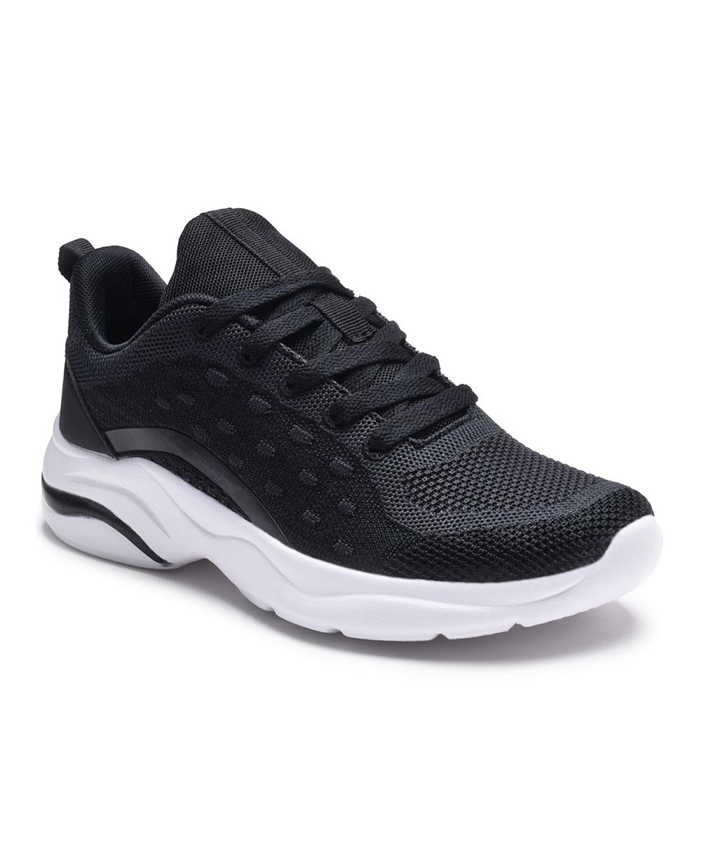 Dream Seek Women's Running Shoes BLACK - Black Laced Slip-On Sneakers - Women