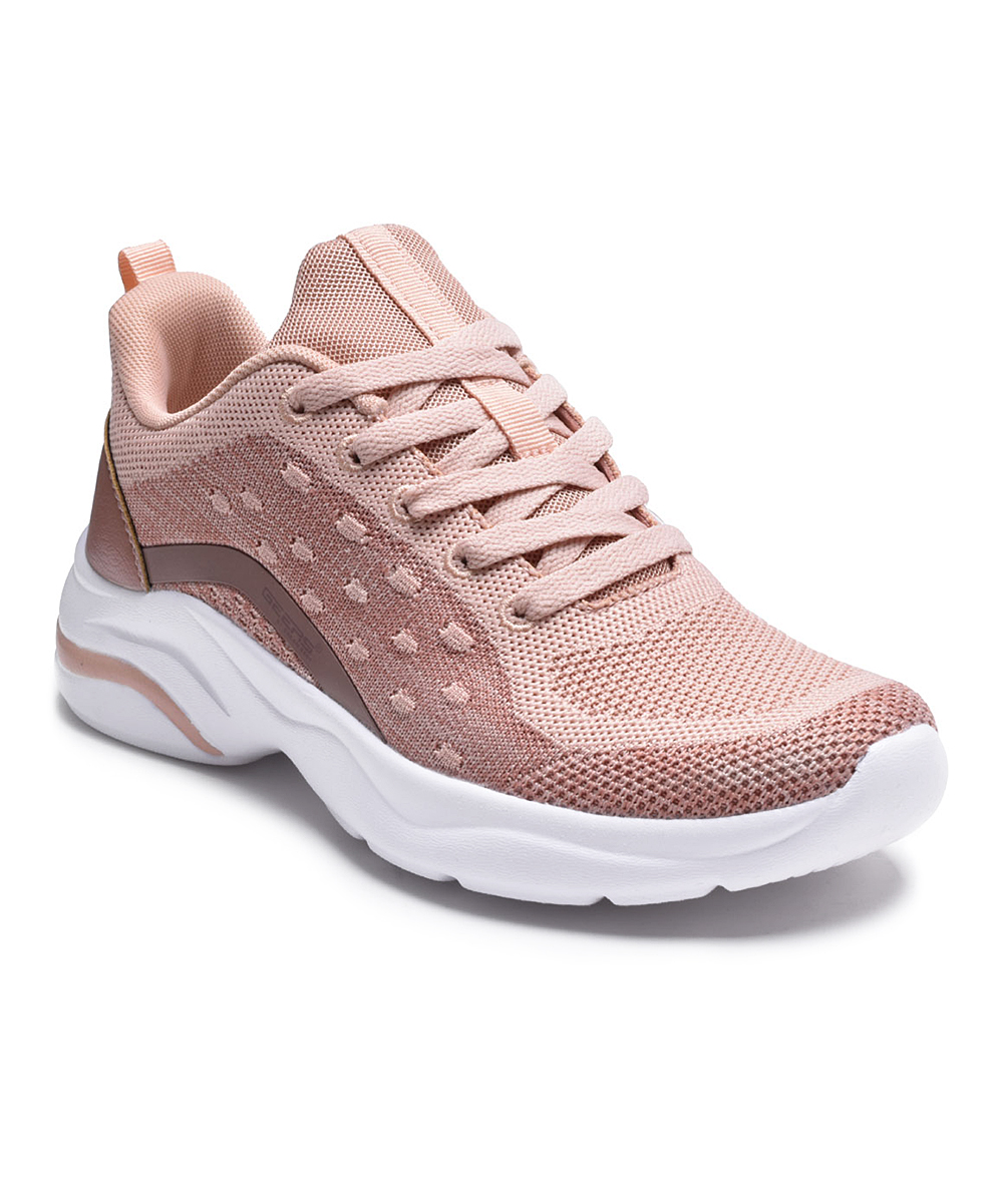 Dream Seek Women's Running Shoes BLUSH - Blush Laced Slip-On Sneakers - Women