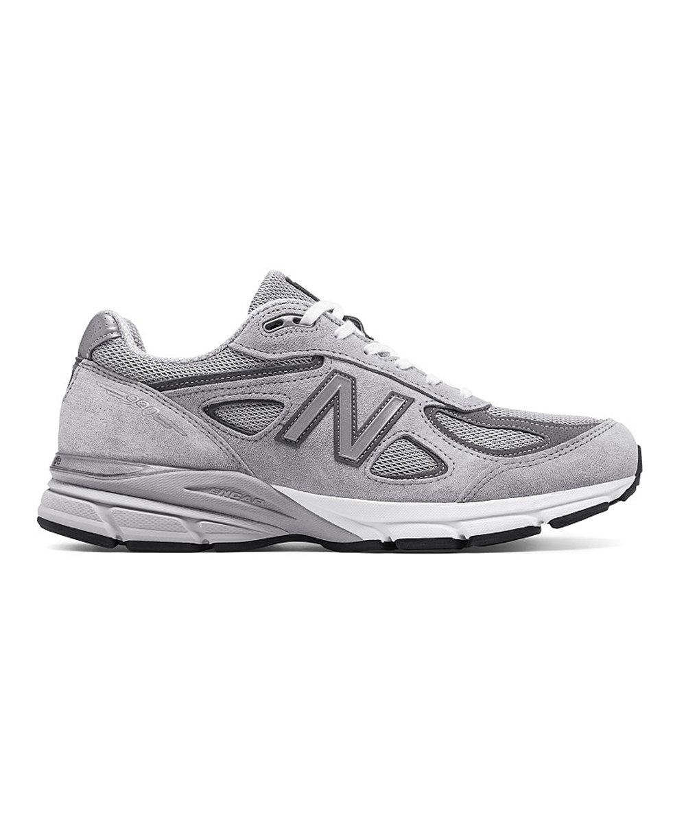 New Balance Men's Running Shoes  - Gray & White 990v4 Sneakers - Men
