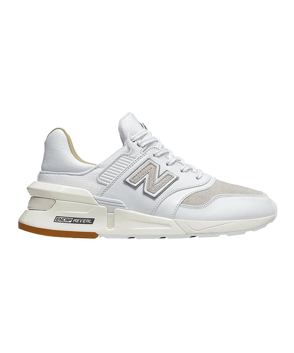 New Balance Men's Sneakers  - White 7 Brown Multicolor 997 Sport Running Shoe - Men