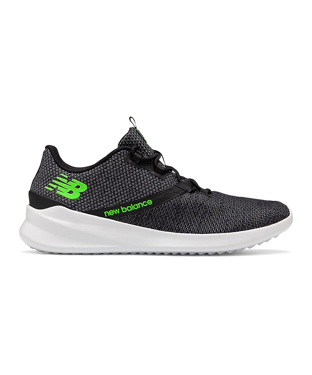 New Balance Men's Sneakers char/ - Charcoal & Lime District Run Running Shoe - Men