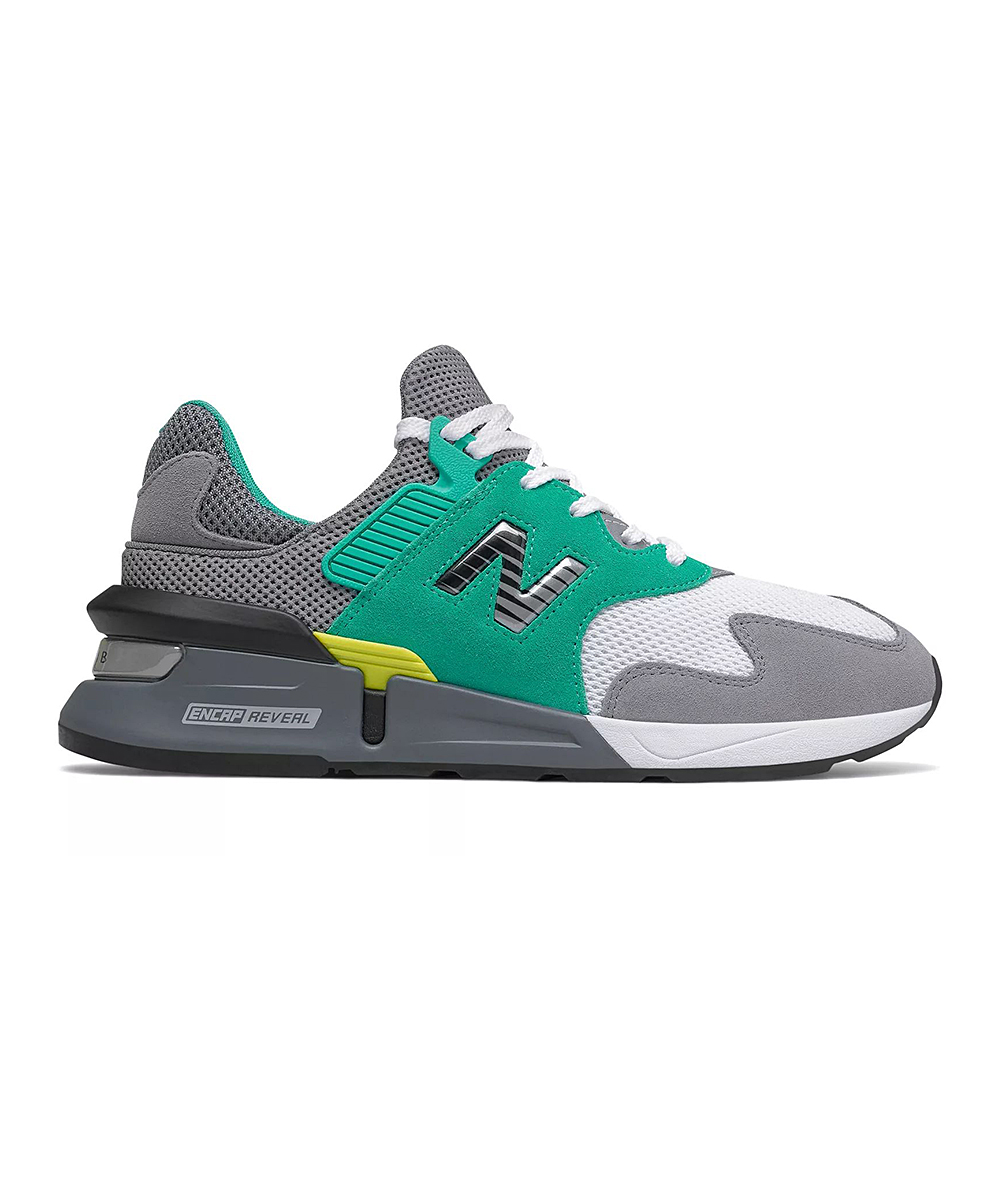 New Balance Men's Sneakers  - Gray & Teal Multicolor 997 Sport Running Shoe - Men