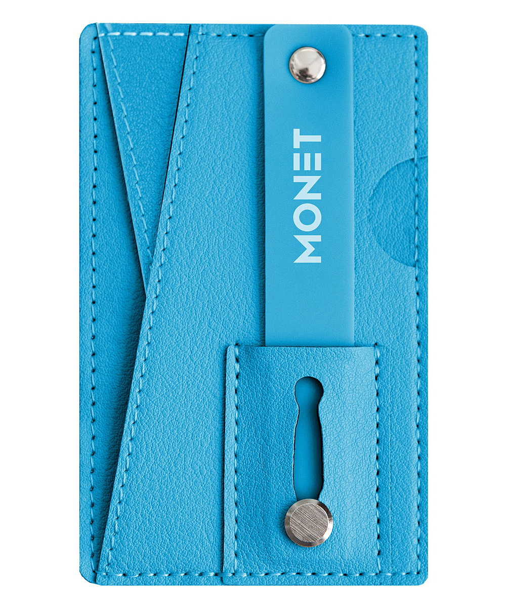 MONET   Ocean - Ocean Blue Kickstand Grip Cell Phone Wallet Accessory