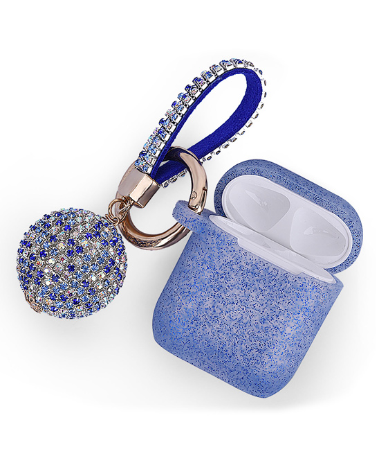 Blue Silicone Apple AirPods Case Sleeve & Disco Keychain Set Blue Silicone Apple AirPods Case Sleeve & Disco Keychain Set. Keep your Apple AirPods protected against bumps, drops and shock with this durable and water-resistant case sleeve that also comes with a charming crystal disco keychain. Includes Apple AirPods case sleeve and crystal disco keychainApple AirPods and AirPods case not includedKeychain: 5.35'' LSiliconeImported