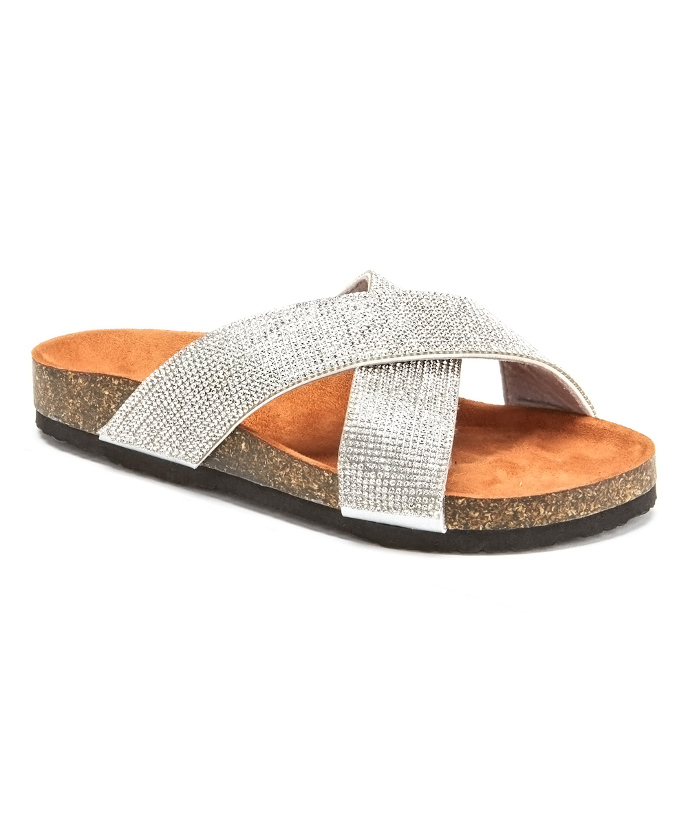 Silver Don't Be Tardy Sandals - Women Silver Don't Be Tardy Sandals - Women. Celebrate your love for glitz by updating your warm-weather footwear with these pedicure-flaunting sandals enlivened with dazzling rhinestones. Man-made upperMan-made liningMan-made soleImported