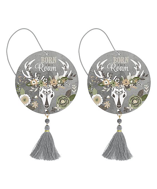 Vanilla 'Born to Roam' Deer Air Freshener - Set of Two