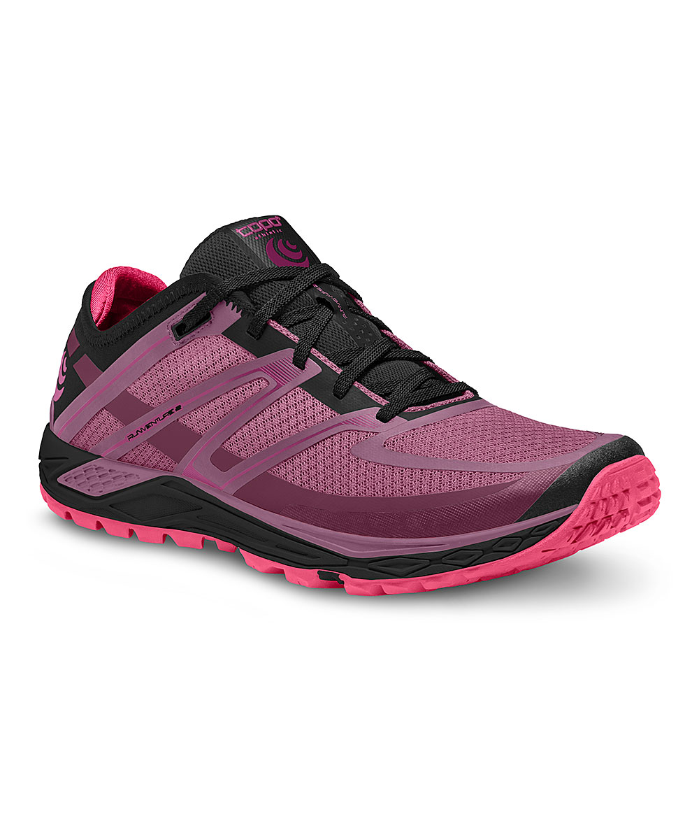 Topo Athletic Women's Running Shoes Raspberry - Raspberry & Black Runventure 2 Running Shoe - Women