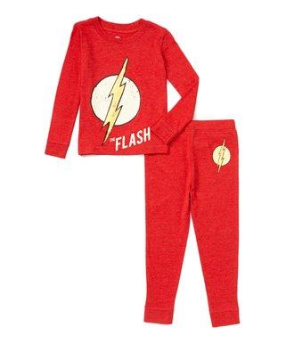 Kids pajamas sleepwear flash red pajama set boys ccuart Image collections