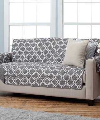 Delicieux Home Fashion Designs | Charcoal Lattice Reversible Sofa Furniture Protector
