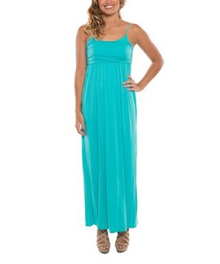 786886357068a Aqua Empire-Waist Maxi Dress - Women