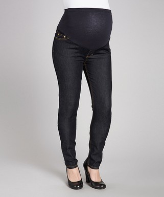 a1aa9d163a4f6 Times 2 | Dark Blue Over-Belly Maternity Skinny Jeans - Plus Too