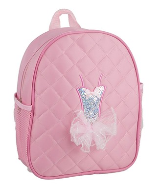 9251a69c682f Pink Ballerina Dress Quilted Backpack - Girls