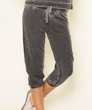 db866d32b5b4c U.S. Apparel   Black Capri Pants - Women