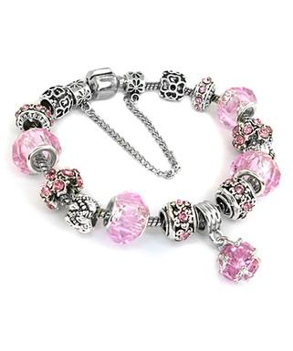 6da630f08 Chamonix | Pink Austrian Crystal & Silvertone Charm Bracelet
