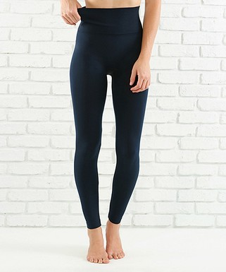 b250c122aa8113 Navy Lined Tummy-Control Leggings - Women