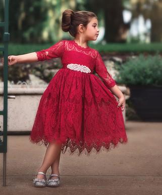 trish scully child red bella rafaella dress infant toddler girls - Girls Red Christmas Dress