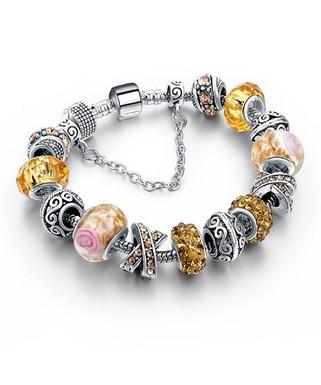 31e1f22a8 Chamonix | Champagne Austrian Crystal & Murano Glass Beaded Bracelet