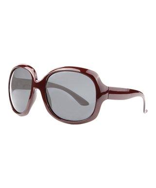 971d51ac1f855 Burgundy Polarized Retro Sunglasses