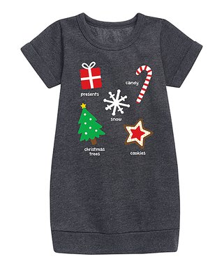 heather charcoal christmas sweatshirt dress toddler