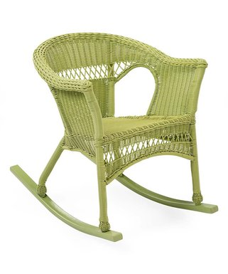Green Wicker Rocker