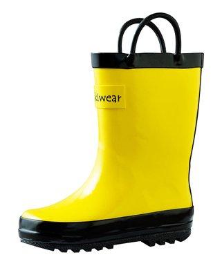 9d15569b162c Yellow   Black Rain Boot - Kids
