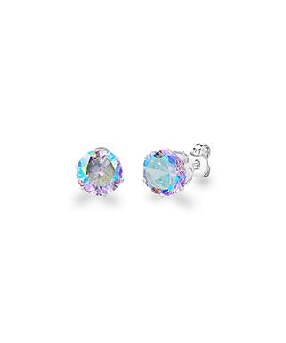6f22906c2 Diane Lo'ren | Aurora Borealis Round Stud Earrings With Swarovski® Crystals