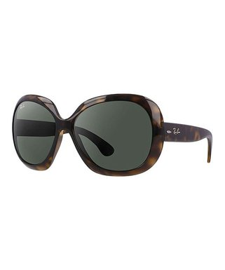 7a4980d82f4d Ray-Ban | Brown Tortoise & Green Gradient Jackie Ohh II Oversize Sunglasses  - Women
