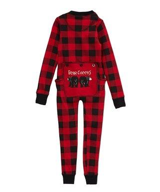 lazy one red buffalo check bear cheeks flapjack pajamas toddler - Elf Christmas Pajamas