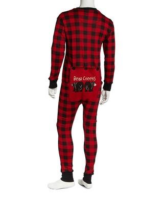 lazy one red black buffalo check flapjack pajamas men - Plaid Christmas Pajamas