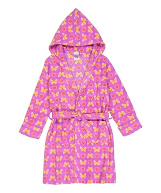 Pink Butterfly Fleece Hooded Robe - Toddler   Girls 785b2e760