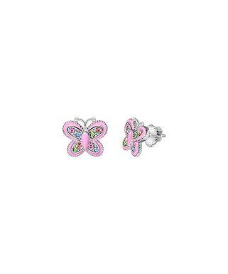 30ddbdcea Sterling Silver Butterfly Stud Earrings With Swarovski® Crystals