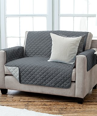 Home Fashion Designs | Dark Gray U0026 Light Gray Reversible Quilted Furniture  Protector